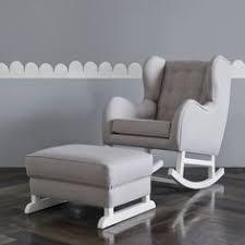 Pottery Barn Rocking Chair Modern Tufted Wingback Convertible Rocker U0026 Ottoman Pottery Barn