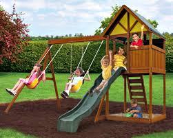 Childrens Garden Chair Swing Set For Kids