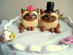 popular cat wedding cake toppers with cat wedding figurines cat