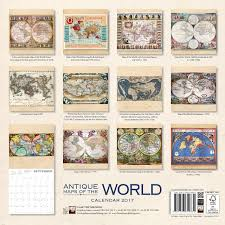Maps Of The World Com by Amazon Com Antique Maps Of The World Wall Calendar 2017 Art