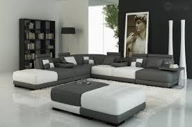 canap d angle en cuir blanc canapé d angle en cuir italien 7 8 places elixir gris foncé et