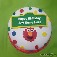 elmo birthday cakes elmo birthday cake ideas with name and photo