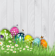 easter pictures easter eggs with butterflies background vector free