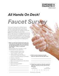 Chicago Faucet Co Chicago Faucet Market Research Questionnaire Interline Creative