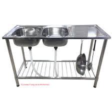 double bowl kitchen sink cam brand diy stainless steel double bowl kitchen sink with stand