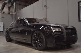 roll royce ghost all black rolls royce ghost with hre p93l in satin black hre performance