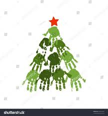 morning fingerprint christmas tree drawing designs craft for kids