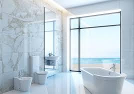 bathroom modern beach bathroom design feature curved white
