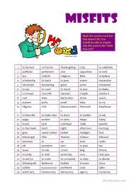 funny thanksgiving games misfits worksheet free esl printable worksheets made by teachers