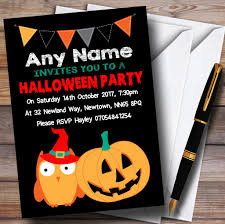 10 personalised pumpkin frame halloween party invitations n9 the