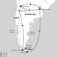 Patagonia Map Patagonia U0026 Chilean Fjords With Mendoza Monograms Pavlus Travel