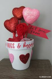 Easy Diy Valentine S Day Decor by Diy Valentine U0027s Day Dollar Store Craft Pot Of Hearts Making