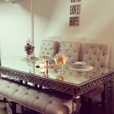 faireytales u0027 dining room is chic with our sophie mirrored dining