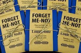 navy memorial forget me not seed packets gloria s garden