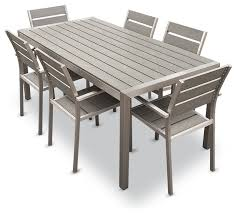 patio furniture 7 dining set gray patio dining sets miketechguy