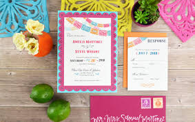 Wedding Invitation Card Diy Colorful Fiesta Inspired Diy Wedding Invitation Cards U0026 Pockets