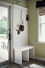 small mudroom bench small and effective mud area maybe it would get aj s crap off the