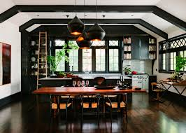 black kitchen in renovated library in portland oregon 4320x3086