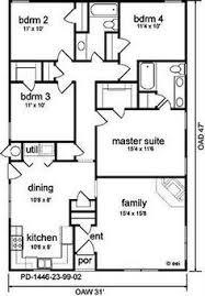 Impressive 4 Bedroom House Plans Impressive 4 Bedroom House Plans Under 1500 Sq Feet 10 Ranch Plan