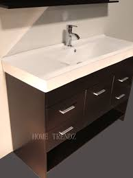 48 inch ceramic sink bathroom vanity set combo with mirror