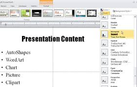 Applying Theme Colors And Theme Fonts In Powerpoint 2010 Theme Ppt 2010