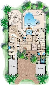 mediterranean house plans with pool innovation design house plans with pool 15 intricate unique