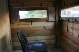 Hunting Blind Windows Interior Photos Of My Deer Blind After I Added On