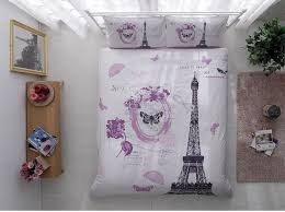 Eiffel Tower Bedding Peacock Quilt 3d Peacock Eiffel Tower Swan Queen King Size Bed