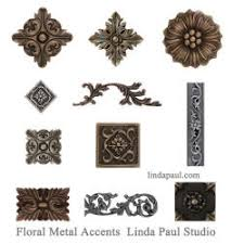 decorative tile inserts kitchen backsplash www lindapaul metal finish collection of 20met