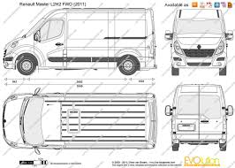 renault master 2015 the blueprints com vector drawing renault master l2h2 fwd