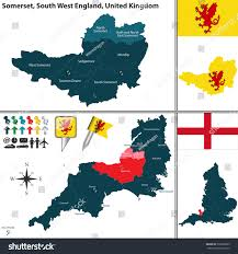 somerset map vector map somerset south stock vector 302566895