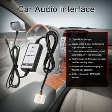 for honda acura 6pin car 3 5mm aux in audio adapter usb interface