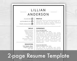 2 page resume etsy