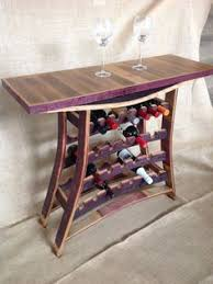 wine tables and racks wine barrel stave wine and port rack table by thebarrelsmith