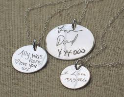 custom engraved jewelry personalized necklace gift for custom handwriting