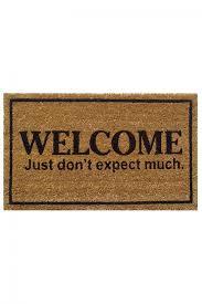 Funny Door Mat by Exteriors Knock Funny Doormats In Beige For Floor Nice