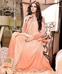 peach colour party dress exclusive online boutique