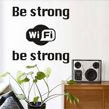 online buy wholesale business wall decals from china business wall be strong wifi logo wall sticker shop window internet wifi vinyl wall decal business home decoration