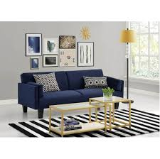 furniture charming navy blue fabric sofa with white coffee table