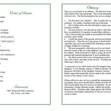 funeral programs order of service blank funeral program template with order of service and poem