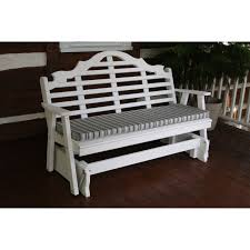 Long Bench Cushions Outdoor Belham Living Lindau All Weather Wicker Patio Loveseat Glider With