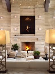Hgtv Contemporary Living Rooms by Contemporary Living Room With Travertine Accent Wall Hgtv