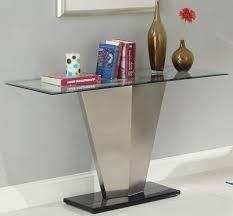 Elegant Sofa Tables modern glass sofa table room design silver glass insert sofa table