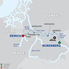 Trier Germany Map by Avalon Visionary Cruise Ship River Ship