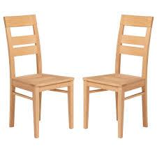chaise en bois chaise de salle à manger bois naturel paula lot de 2 lestendances fr