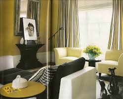 living room black and white living interior yellow grey black and