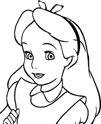 alice face coloring page wecoloringpage