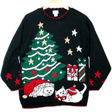 kitty cats vintage 80s acrylic tacky ugly christmas sweater the