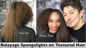 how to color natural afro textured hair balayage spongelights on textured hair youtube