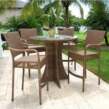 Bar Height Patio Furniture Sets Cool Bar Outdoor Table High Top Patio Table Set Glass Top Bar